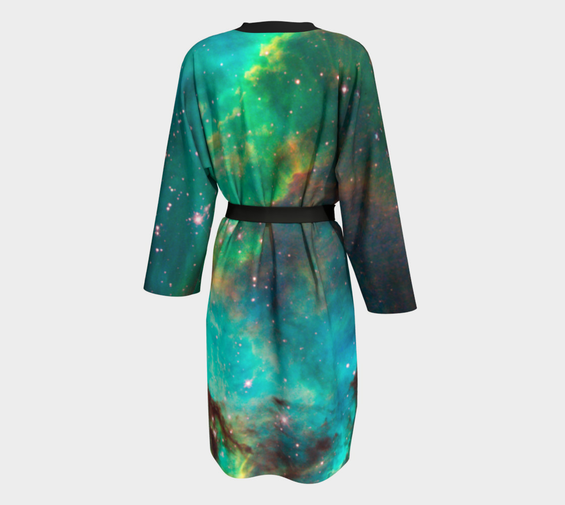 Star Cluster NGC 2074 in Cosmic Cloud Peignoir Robe preview #2