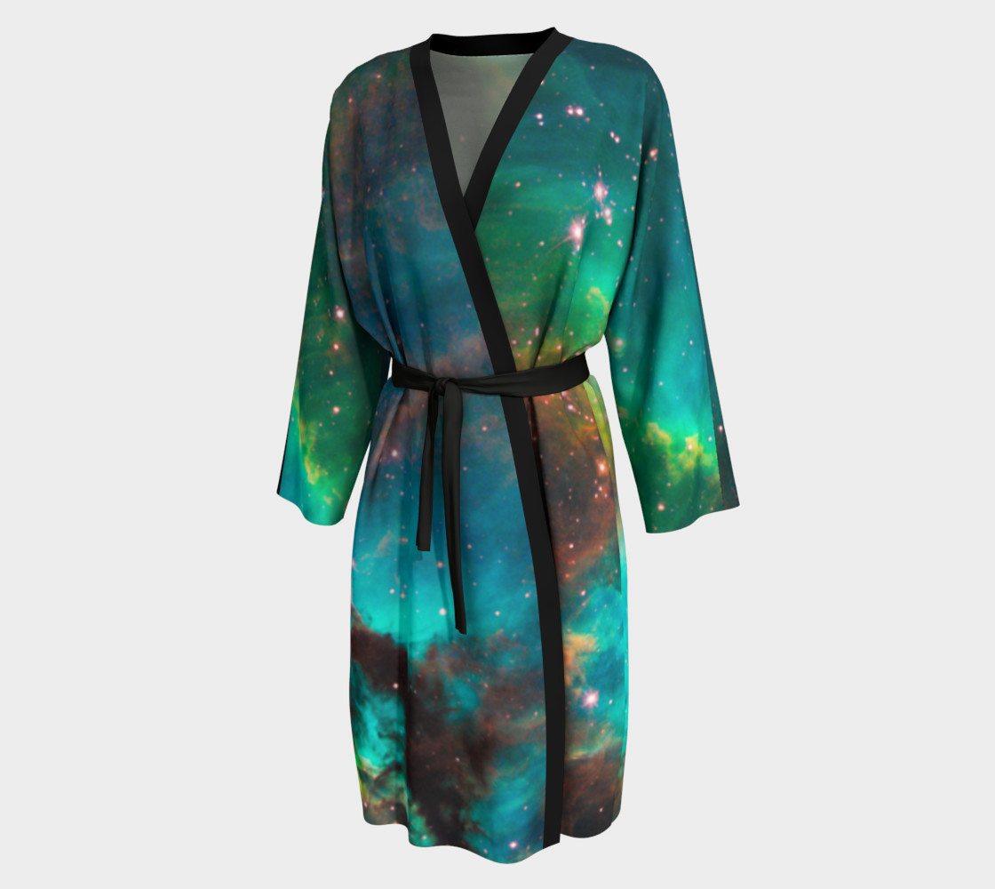 Star Cluster NGC 2074 in Cosmic Cloud Peignoir Robe preview #1