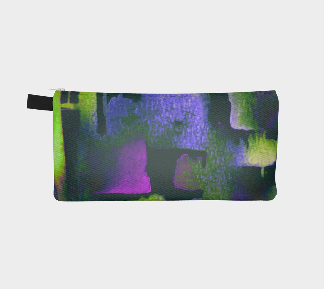 abstract in lime green and fushia preview #2