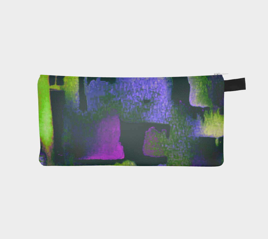 abstract in lime green and fushia preview #1