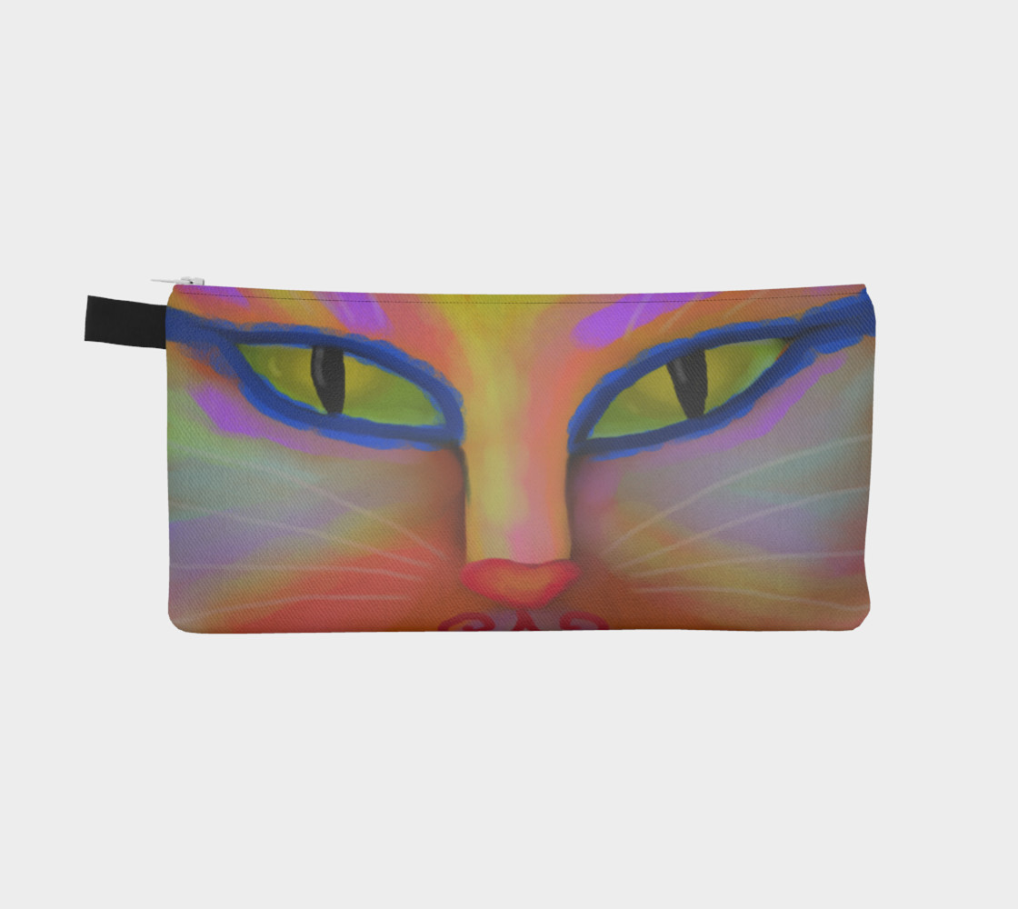 Aperçu de Colorful Cat Face Abstract Art #2