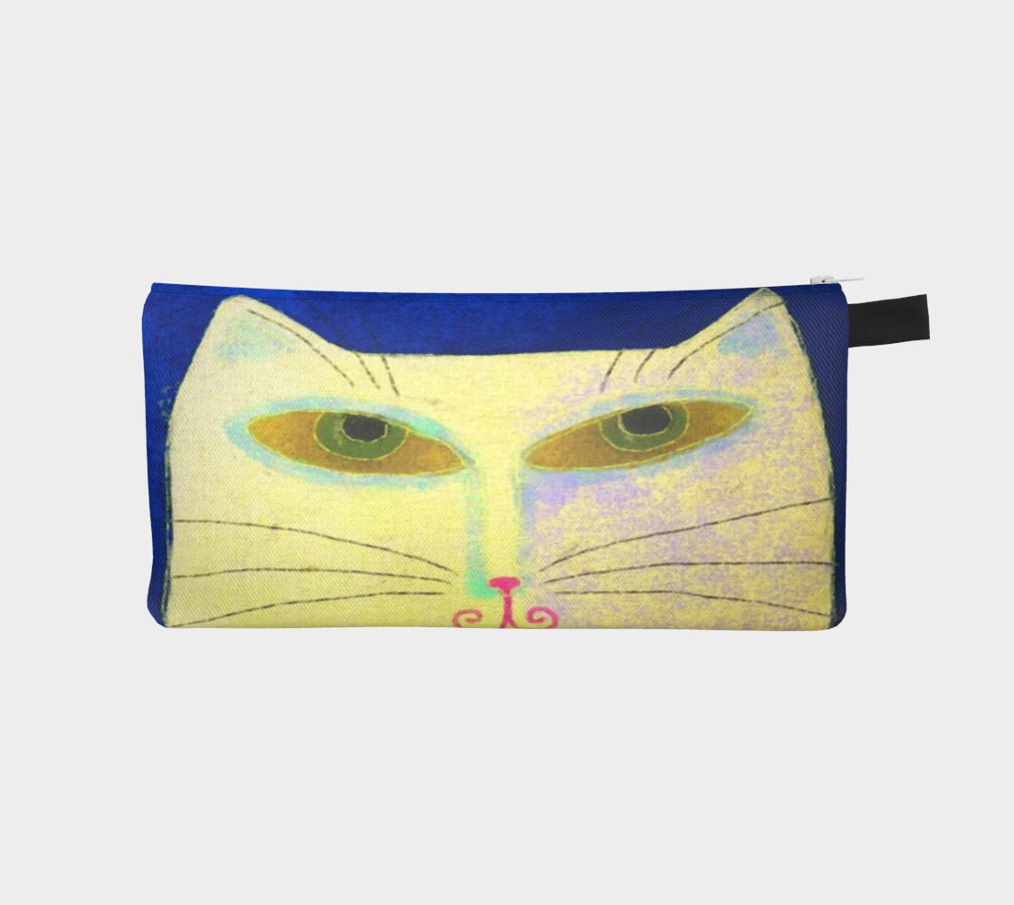 Aperçu de Yellow Cat Abstract Art #1