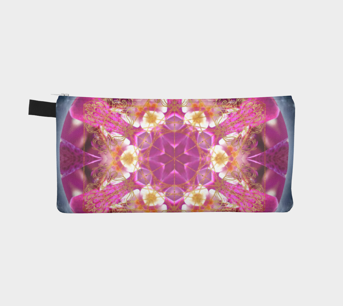 Aperçu de Cosmic Love Mandala Pencil Case #2