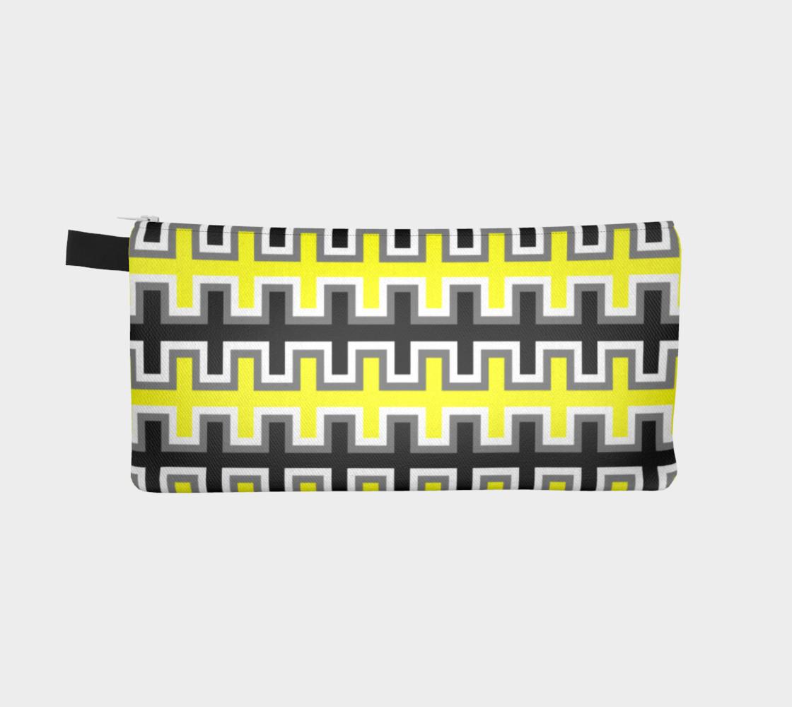 Aperçu de Black, Yellow, Grey, and White Southwest Blanket #2