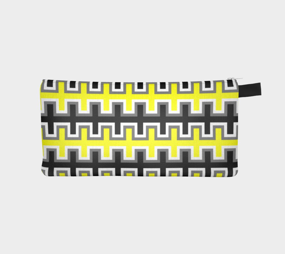 Aperçu de Black, Yellow, Grey, and White Southwest Blanket #1