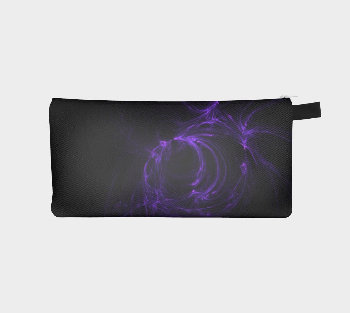 Purple Fractal on Black Pencil Case preview #1