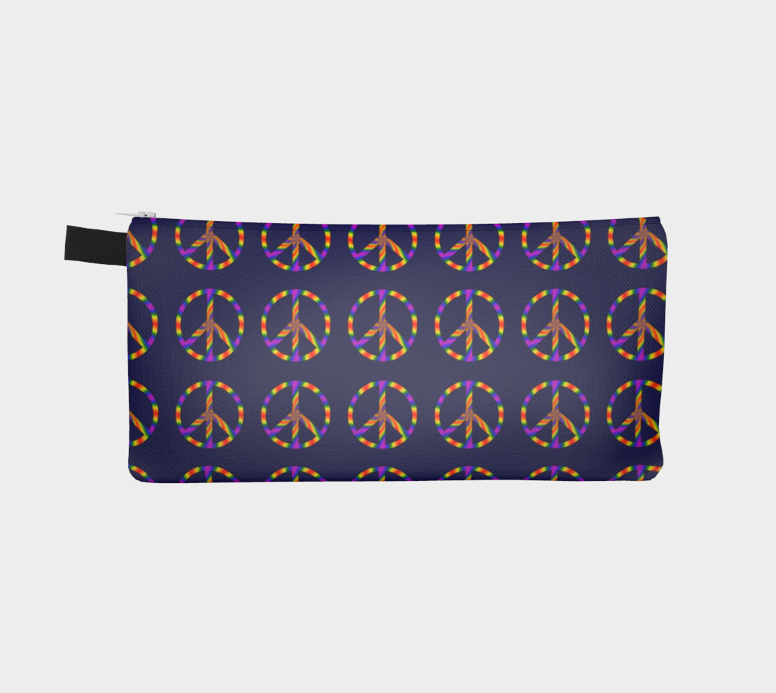 Rainbow Peace Sign Pencil Case preview #2
