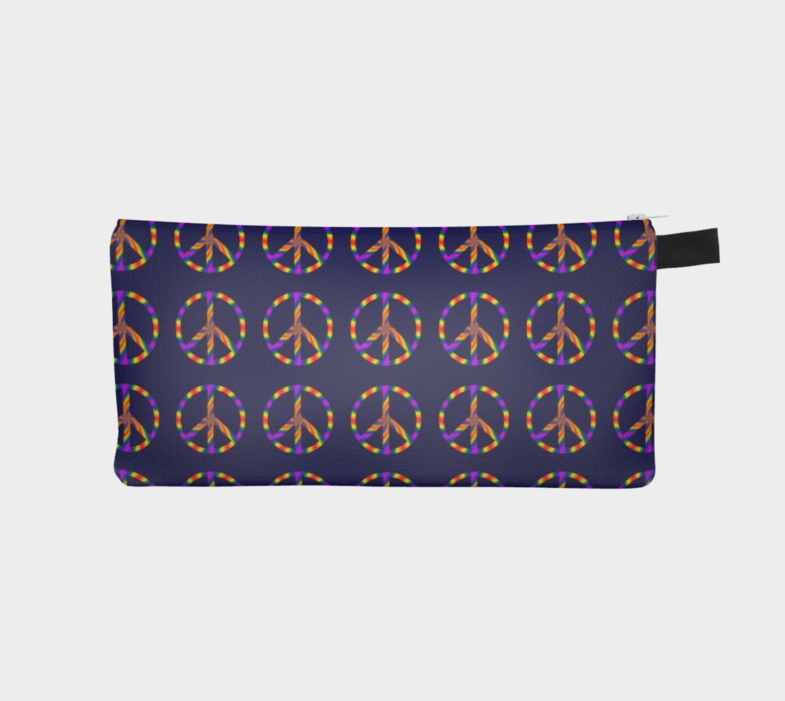Rainbow Peace Sign Pencil Case preview #1