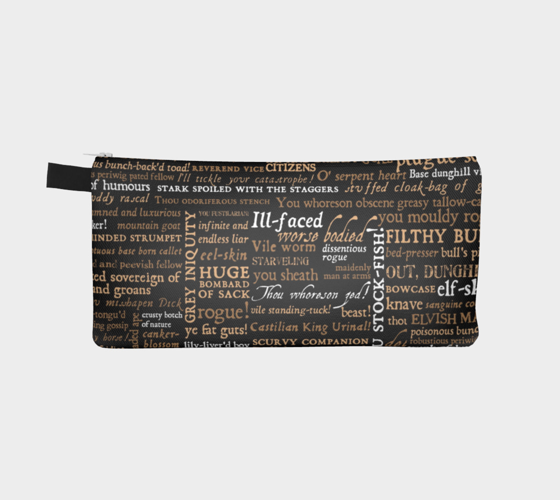 Shakespeare Insults Collection Pencil Case preview #2
