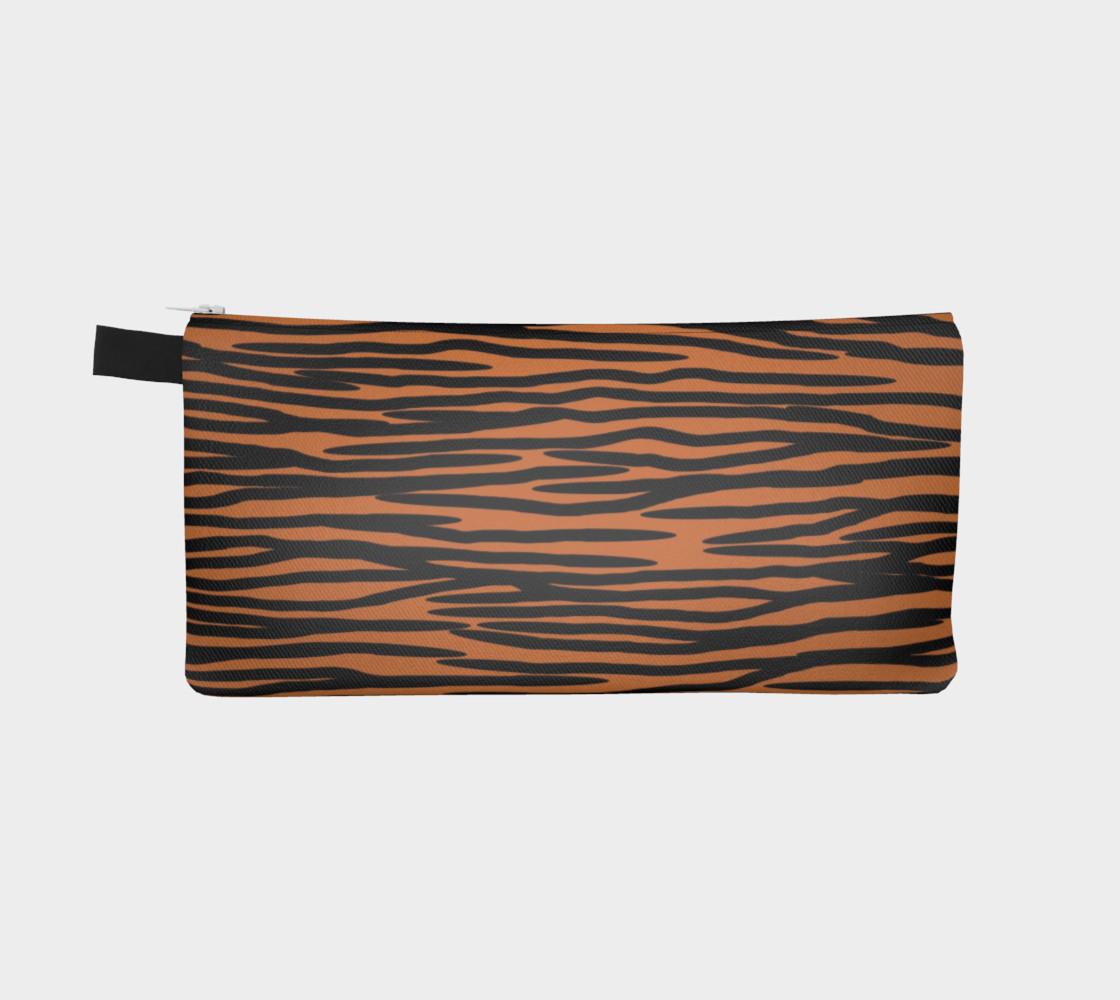 Aperçu de Tiger Skin Pattern Pencil Case #2