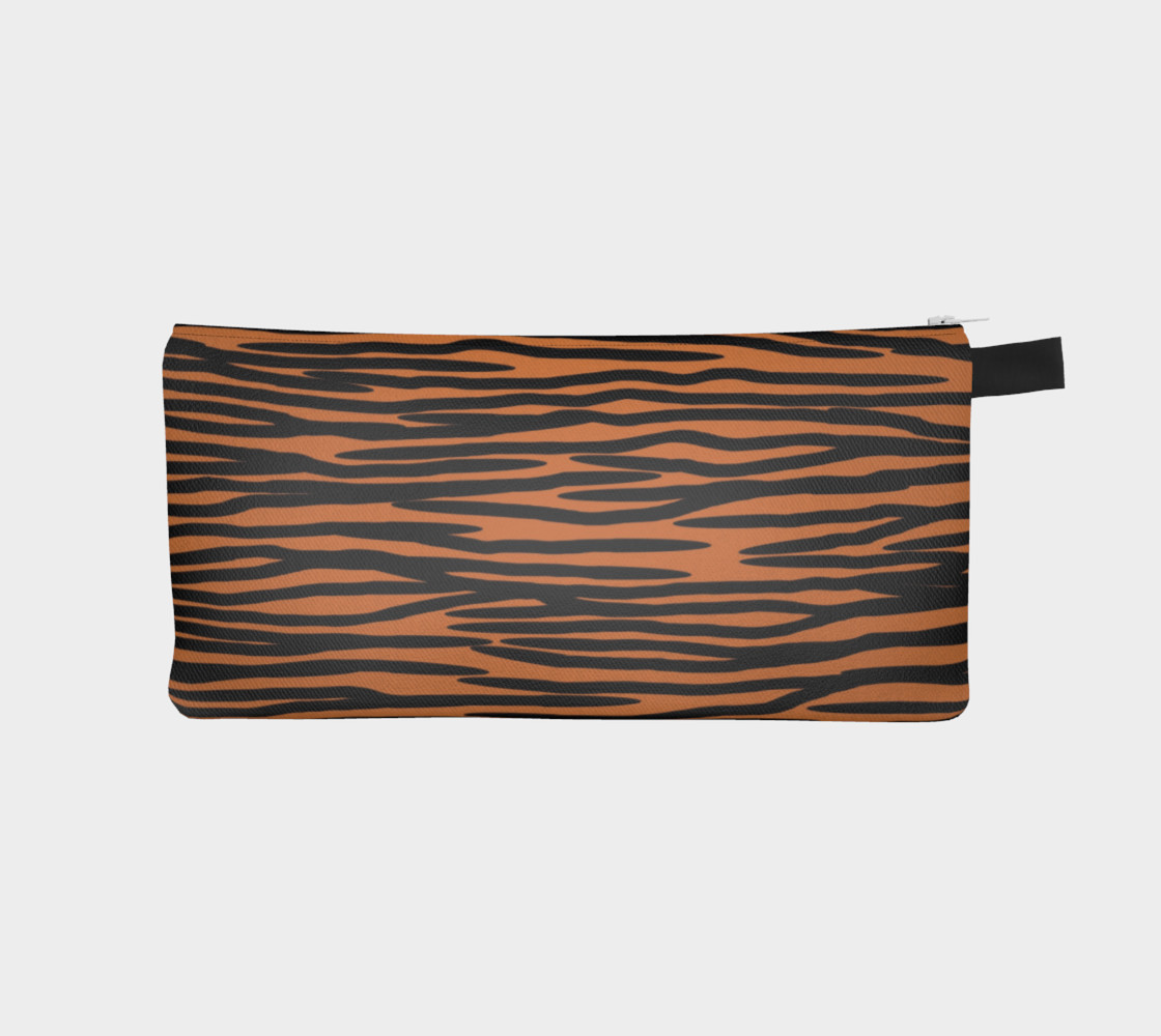 Aperçu de Tiger Skin Pattern Pencil Case #1