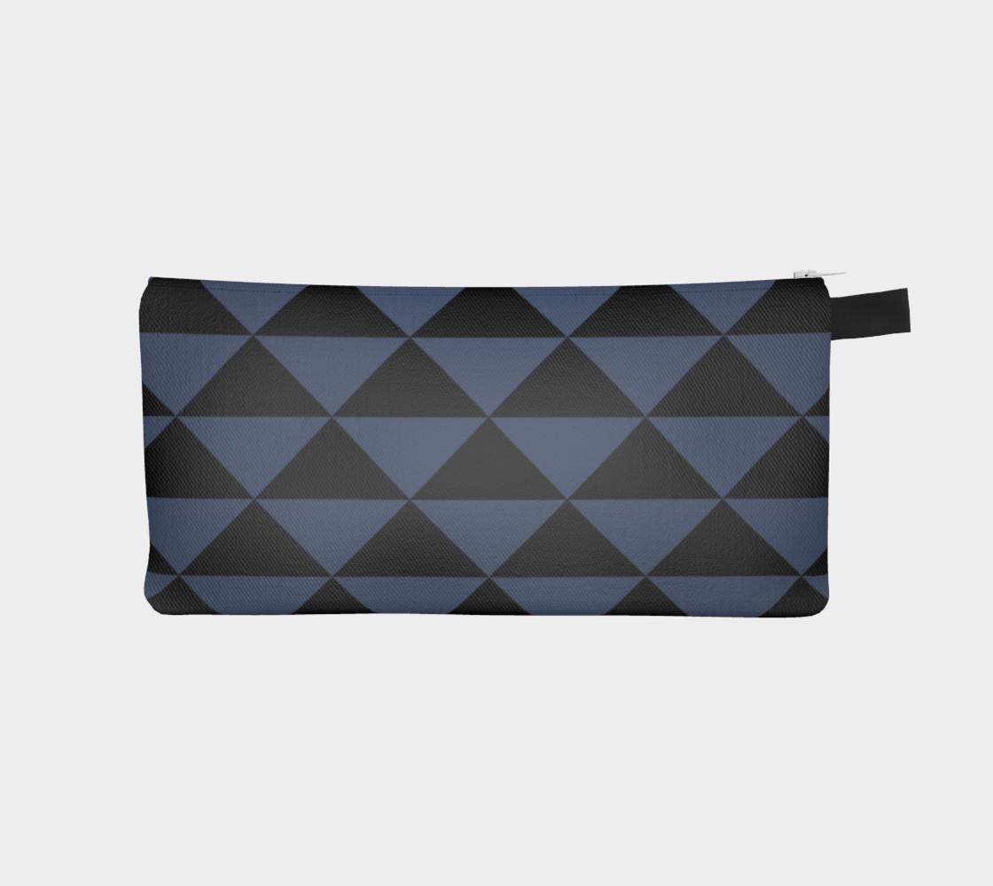 Aperçu de Black and Blue Jeans Blue Triangles #1