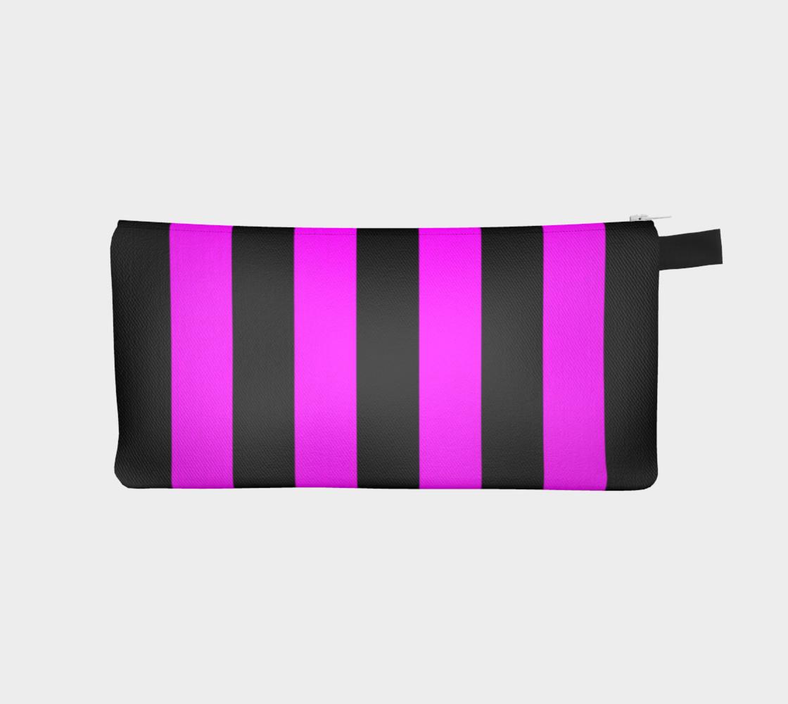 Aperçu de Black and Magenta Pink Stripes #1