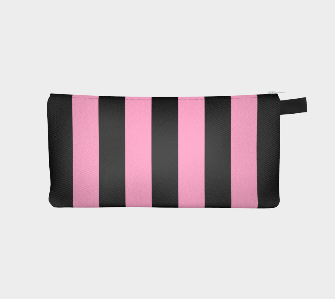 Black and Carnation Pink Stripes Miniature #2