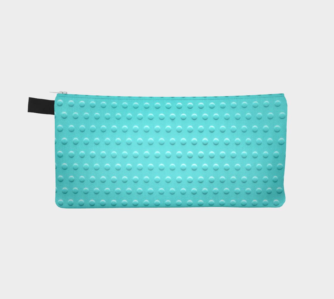 Aperçu de turquoise dots pencil case #2