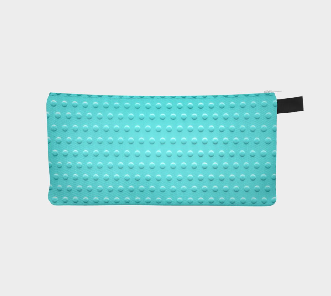 Aperçu de turquoise dots pencil case #1