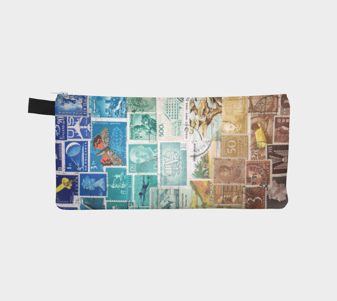 Beachy - Postage Stamp Zip Pouch preview #2