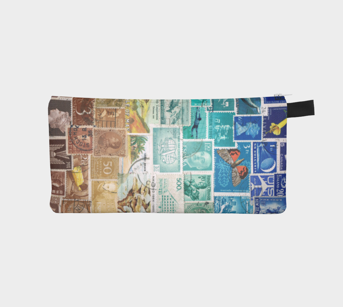 Beachy - Postage Stamp Zip Pouch preview #1