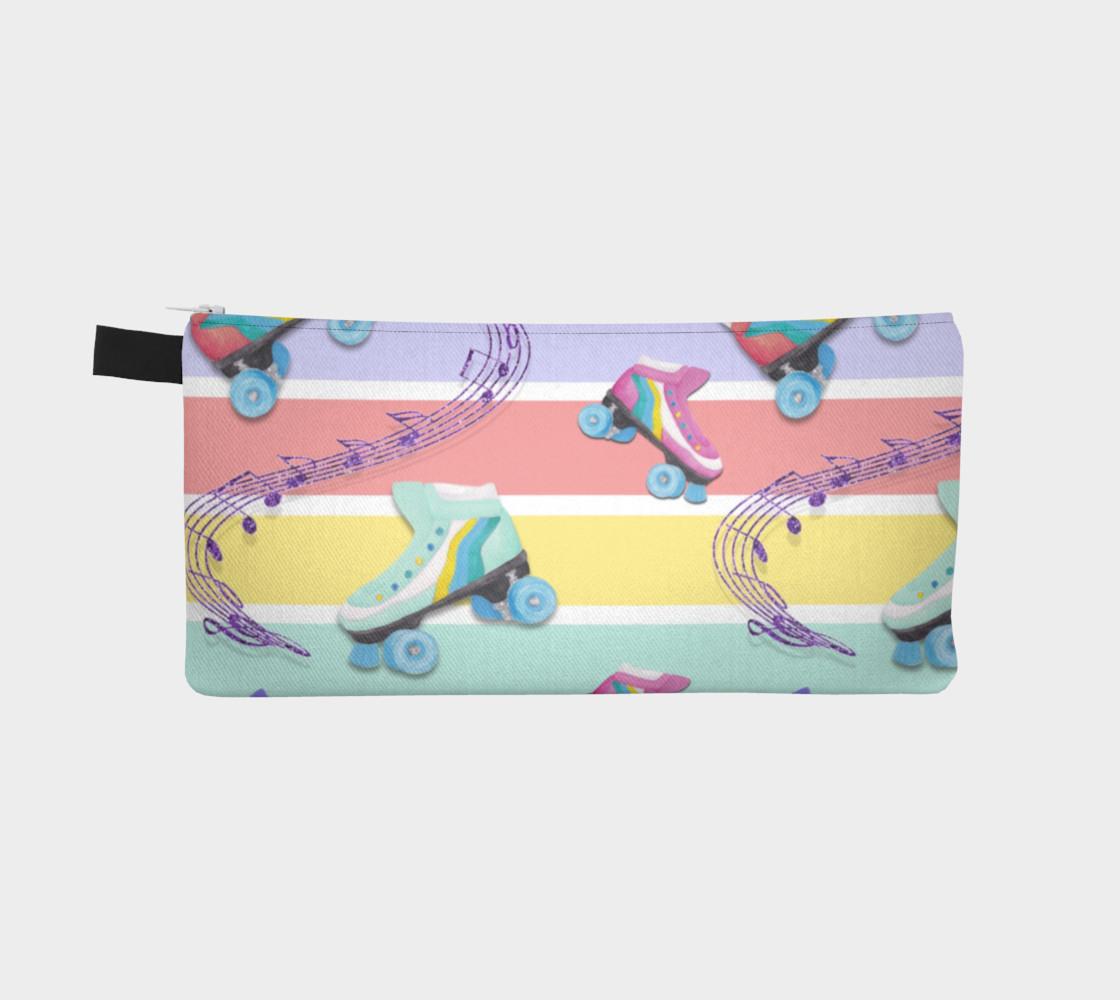 Aperçu de Rainbow Pastel Roller Skates Pencil Case #2