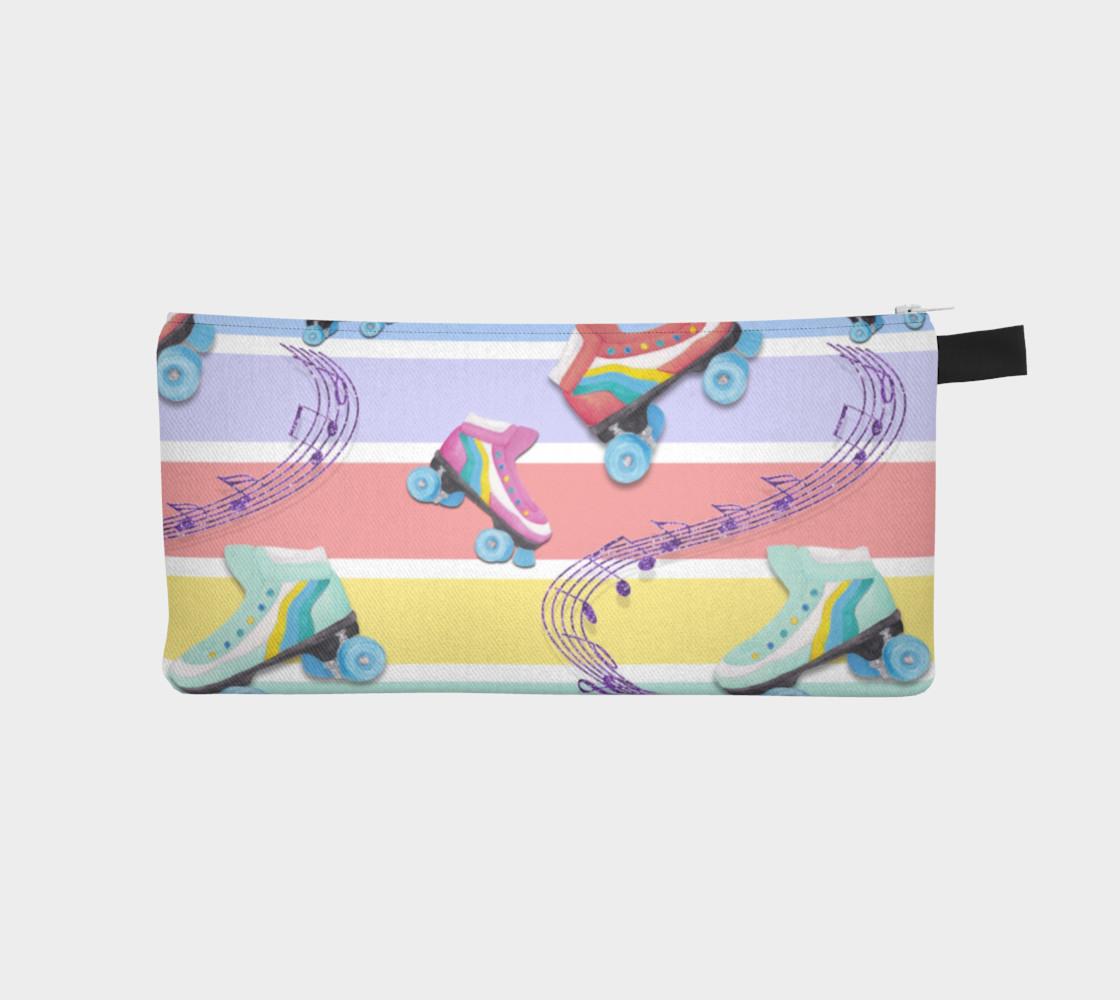 Aperçu de Rainbow Pastel Roller Skates Pencil Case #1