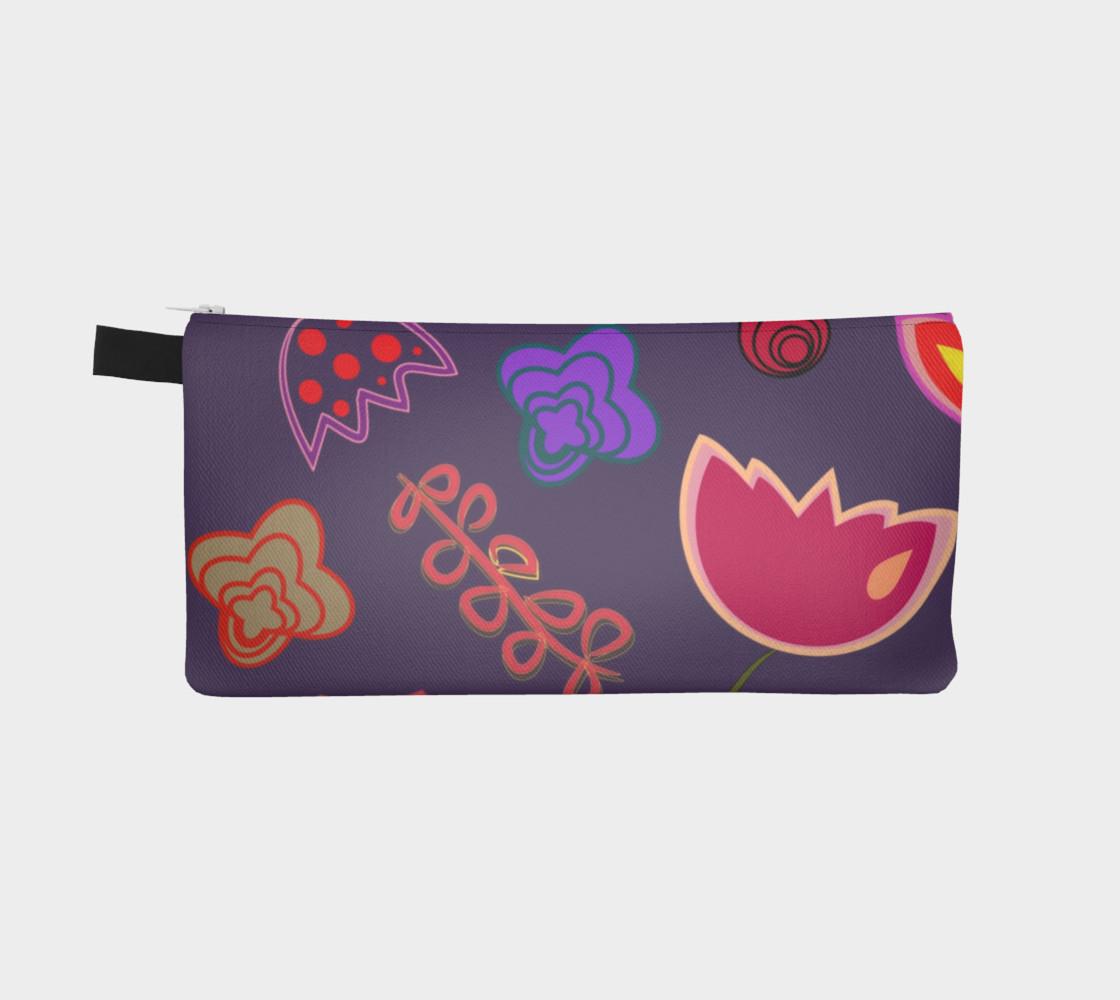 Purple Floral Pencil Box preview #2