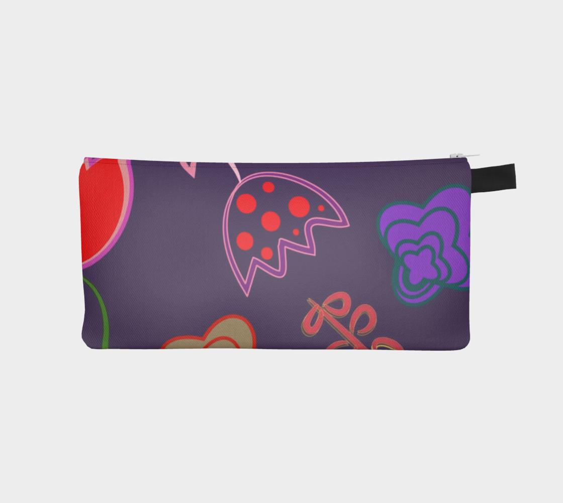 Purple Floral Pencil Box preview #1
