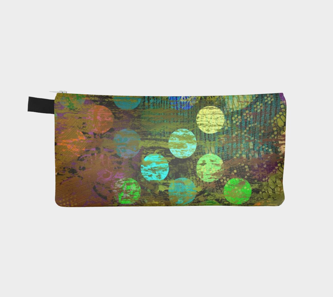 Aperçu de Abstract Multicolored Dots Pencil Case #2