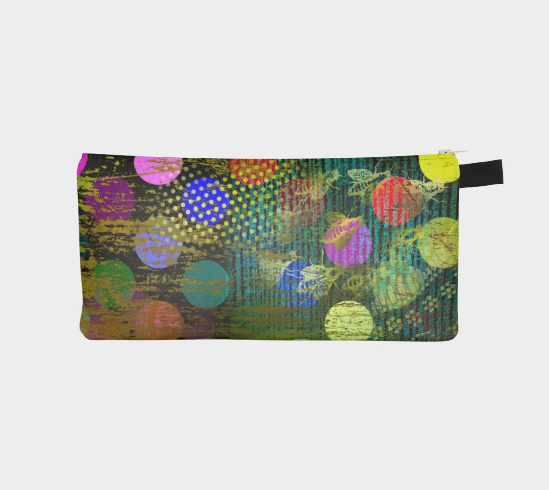 Aperçu de Abstract Multicolored Dots Pencil Case #1