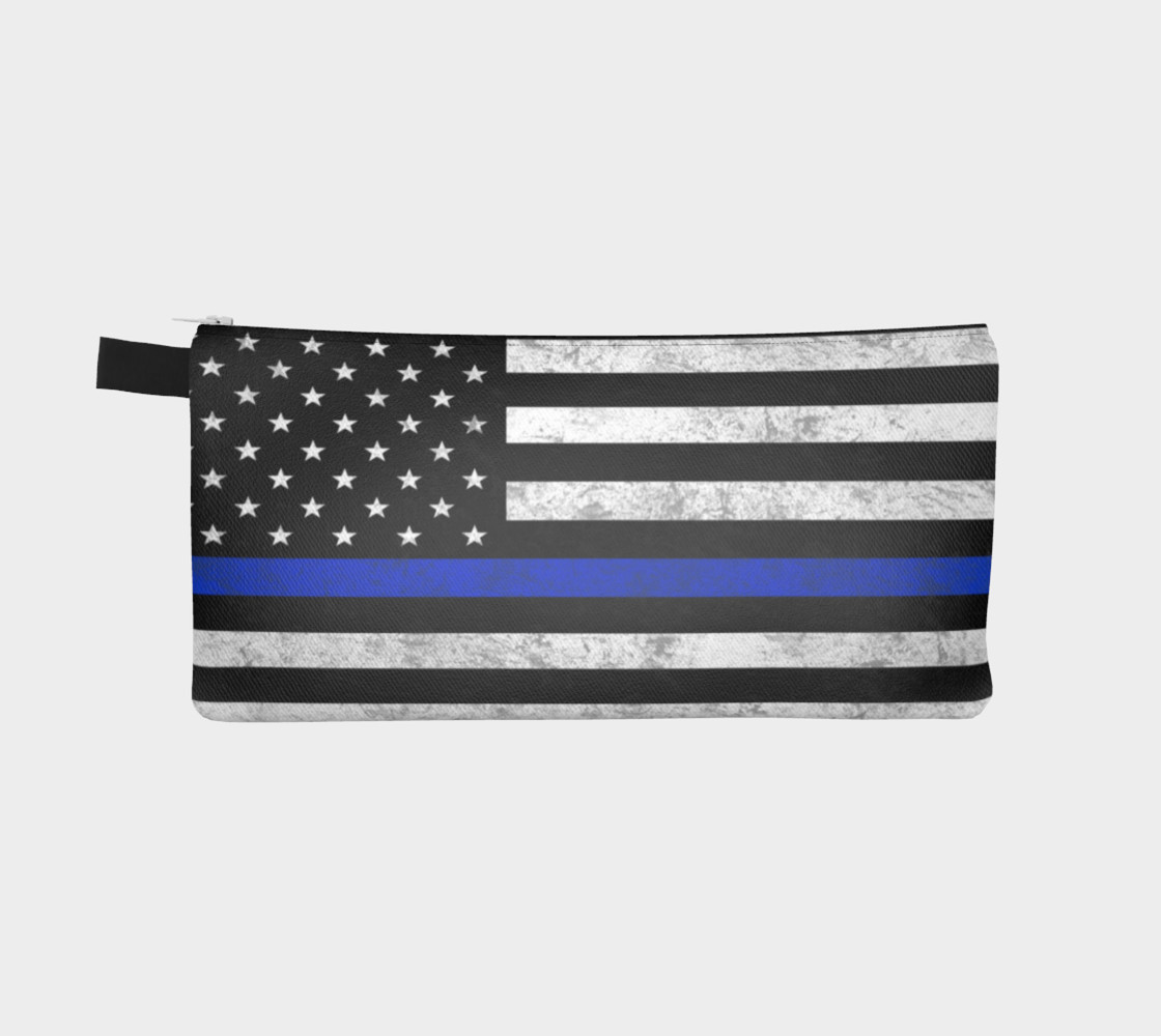 Thin Blue Line Zipper Case preview #2