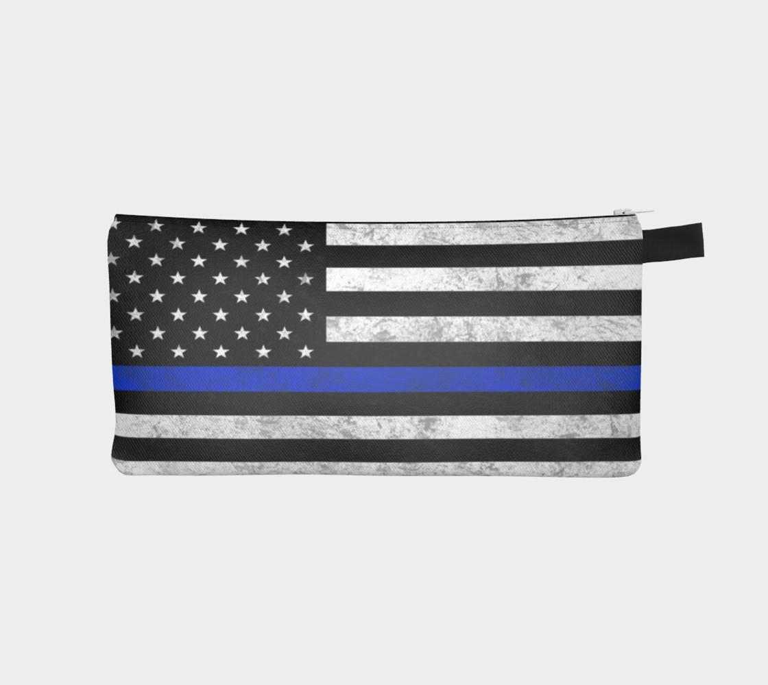 Thin Blue Line Zipper Case preview #1
