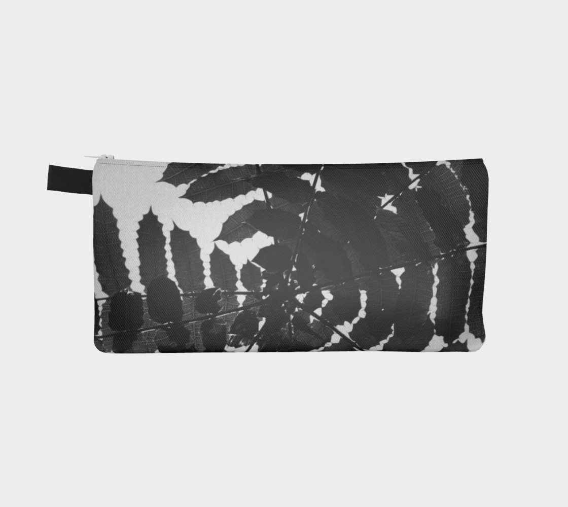 Black and White Leaf Pencil Case preview #2