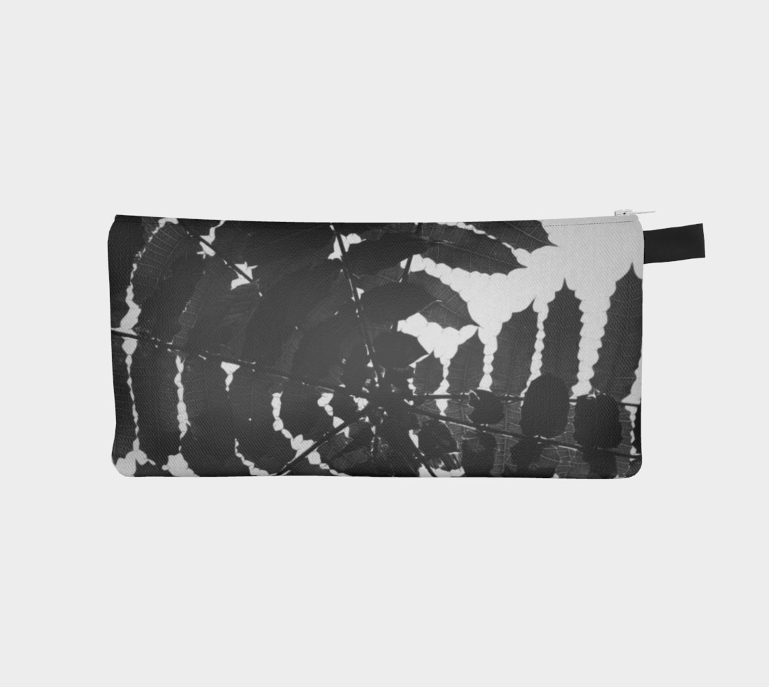 Black and White Leaf Pencil Case preview #1