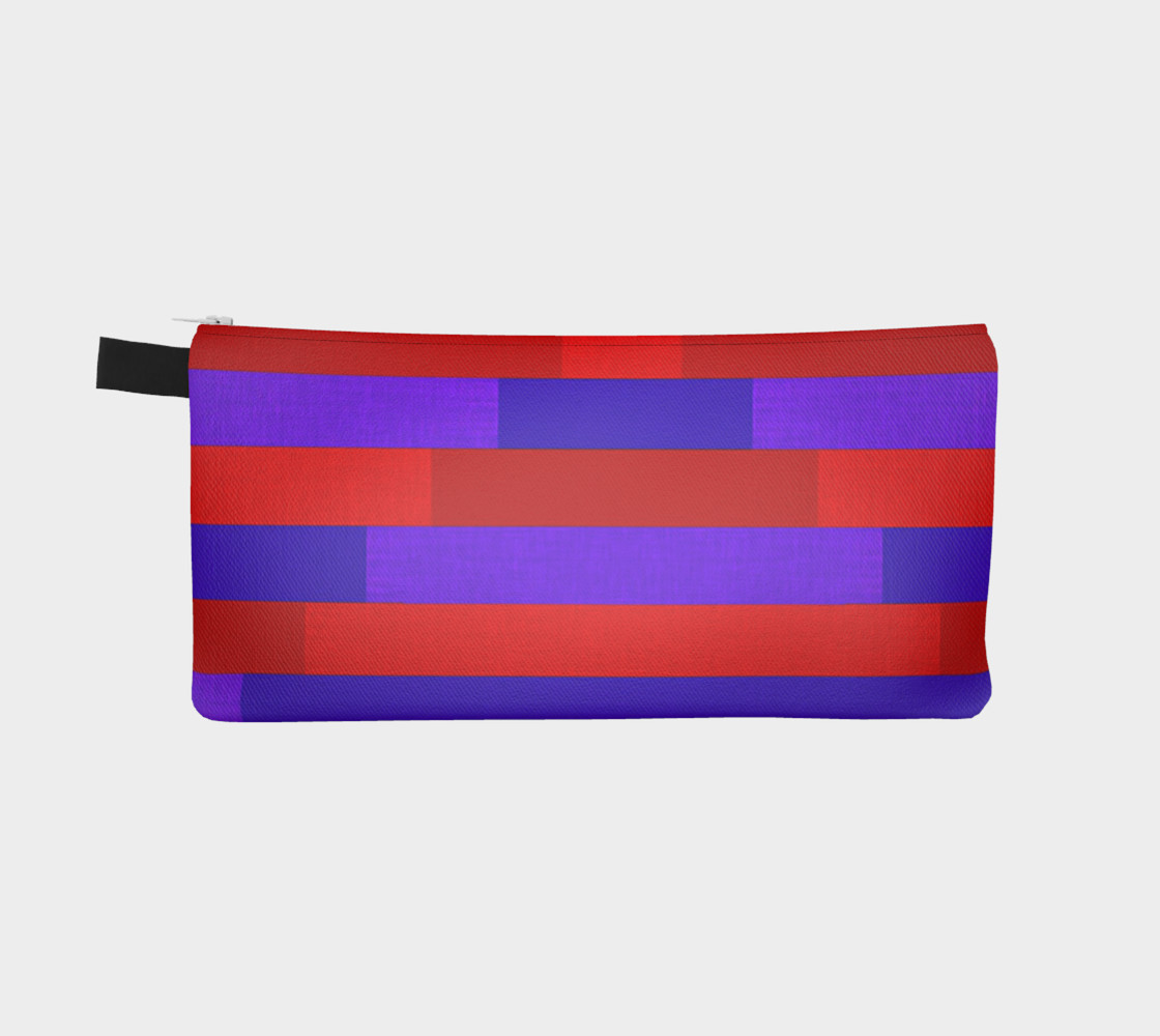Red & Purple Stripes, Up & Down Pencil Case preview #2