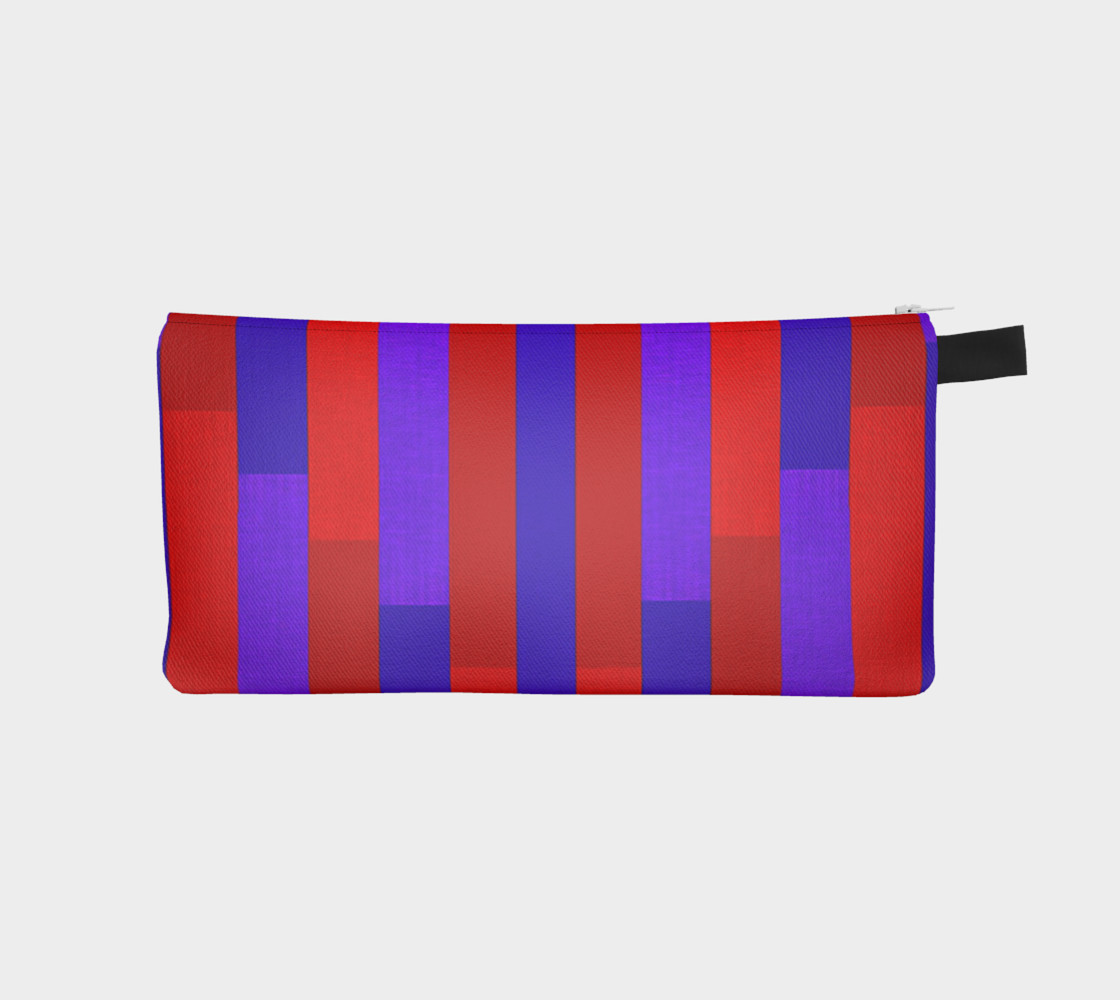 Red & Purple Stripes, Up & Down Pencil Case preview #1
