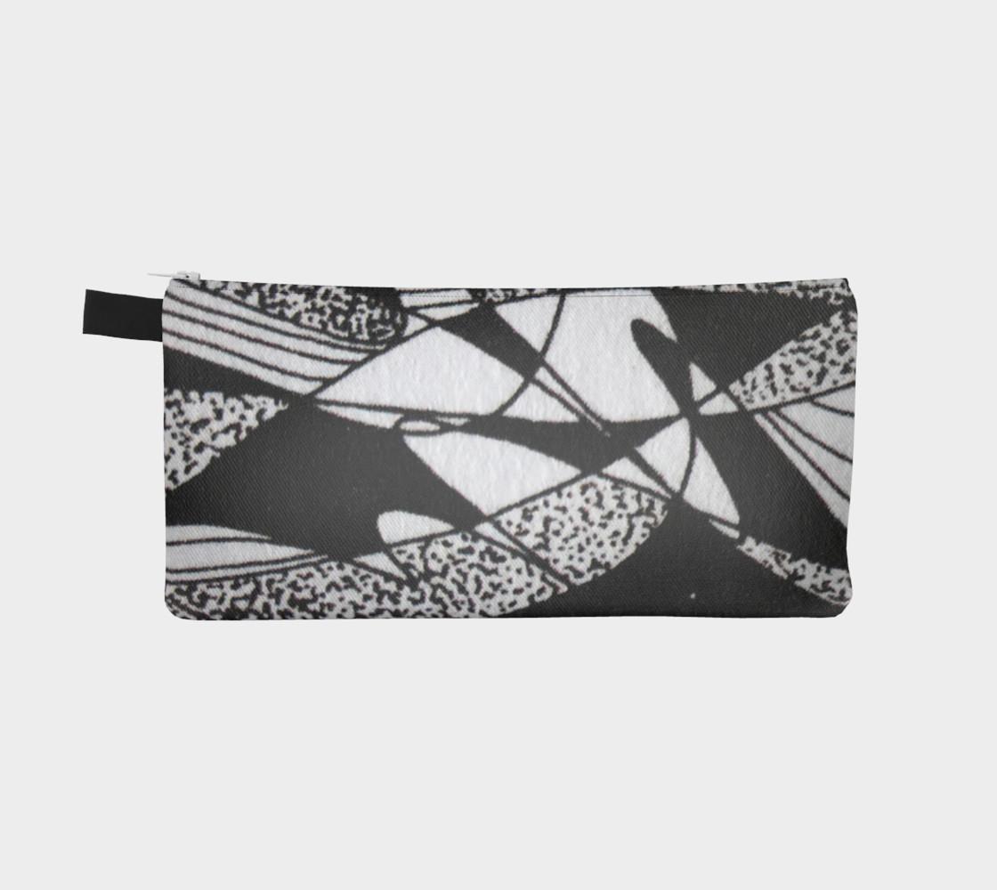 Aperçu de Étui à crayon-Griffe Noir et blanc-micheline-plante #2