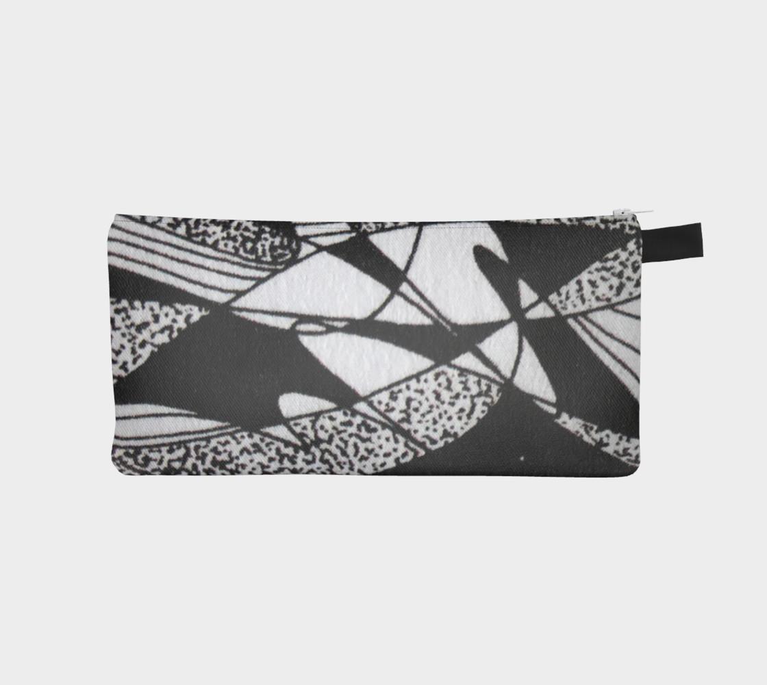 Aperçu de Étui à crayon-Griffe Noir et blanc-micheline-plante #1