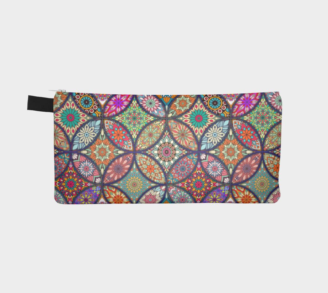 Vibrant Mandalas Pencil Case preview #2