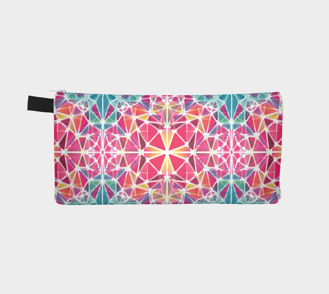 Pink and Blue Kaleidoscope Pencil Case preview #2
