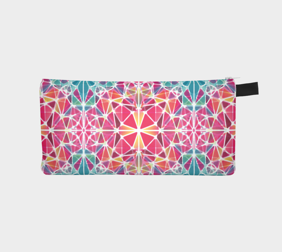 Pink and Blue Kaleidoscope Pencil Case preview #1