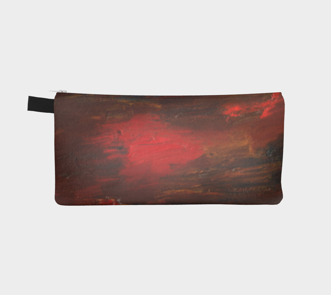 Crimson Ocean Pencil Case preview #2