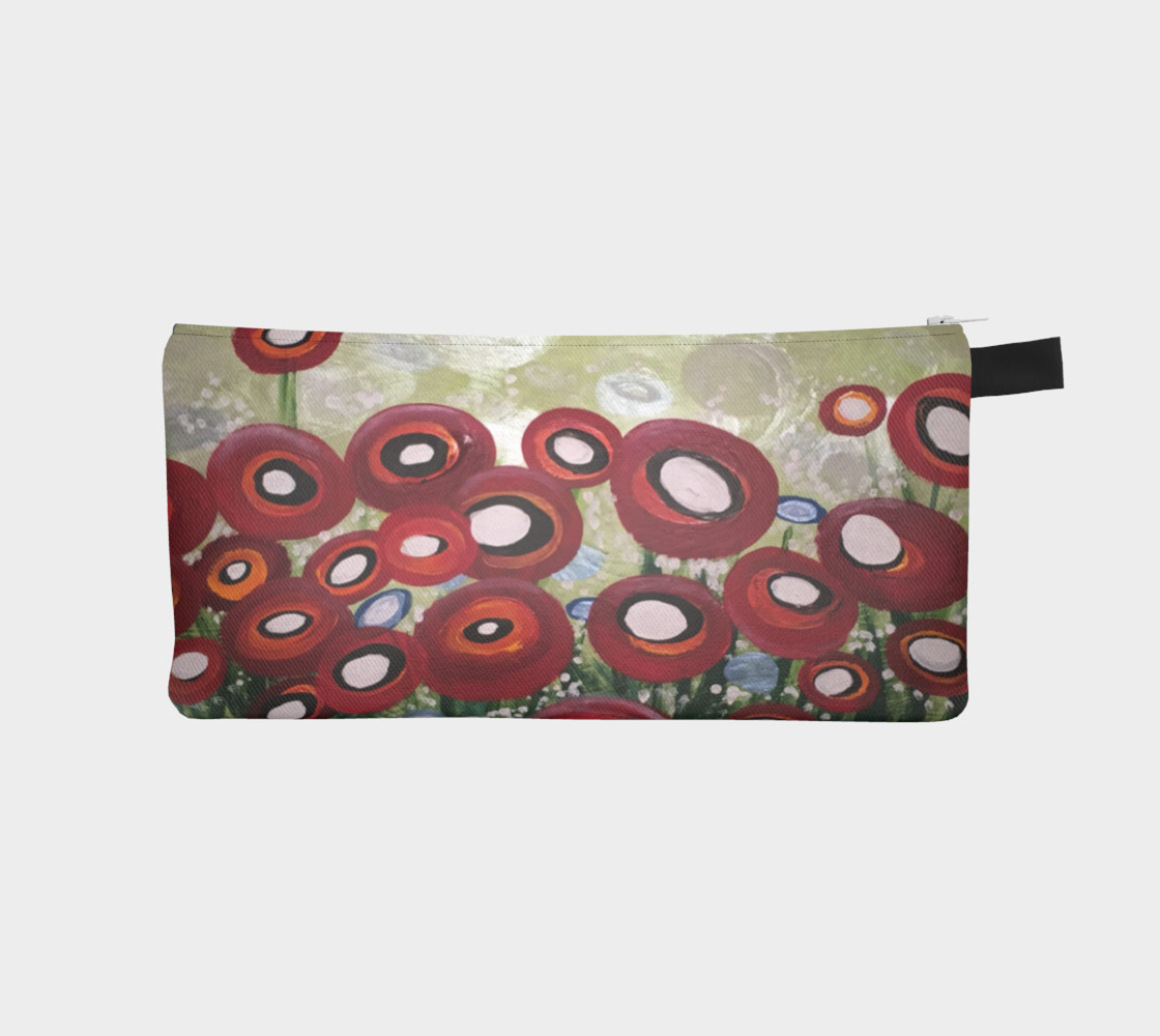 Whimsical Poppy Pencil Case preview #1