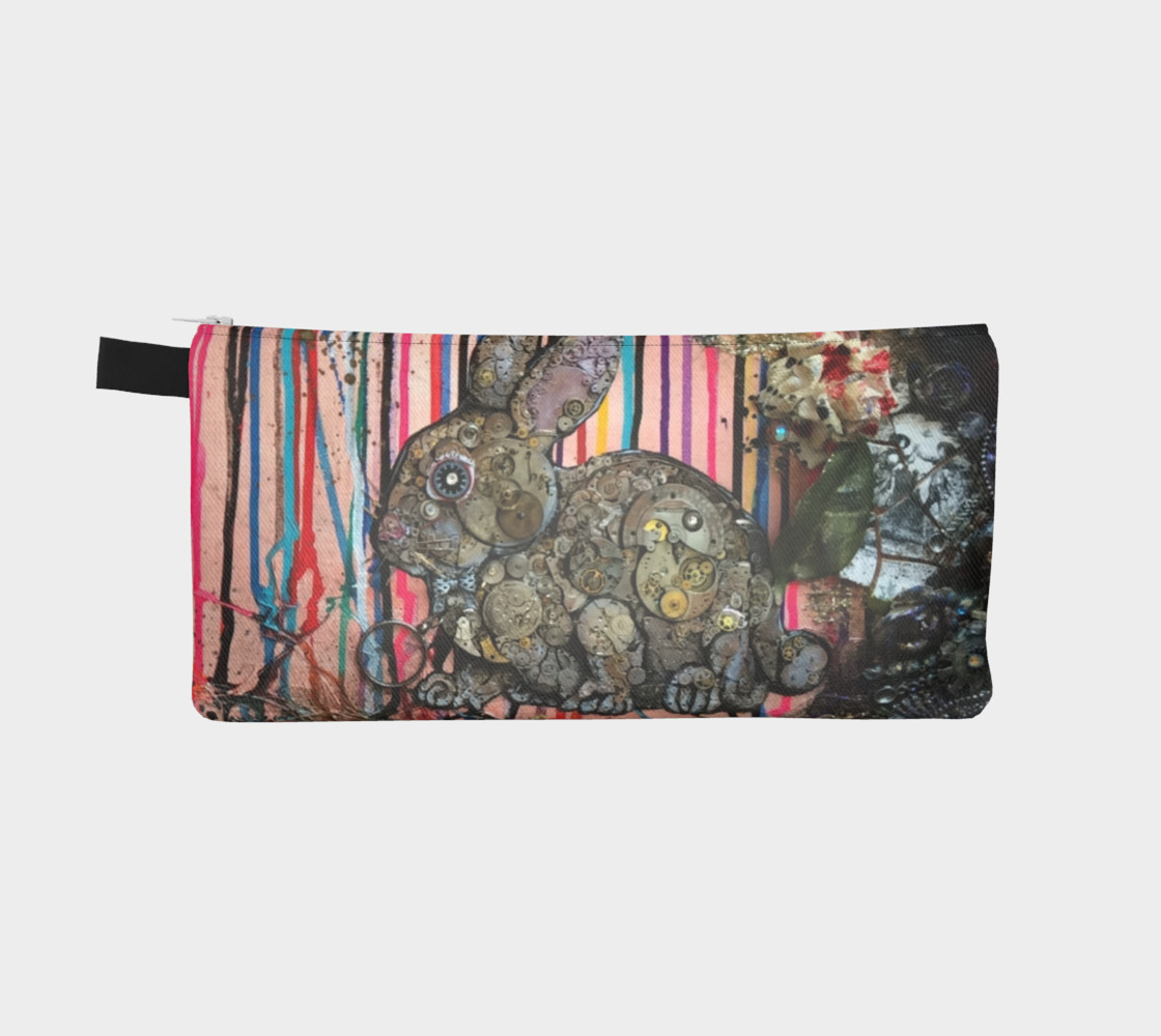 Clockwork Bunny Zippered Pouch preview #2