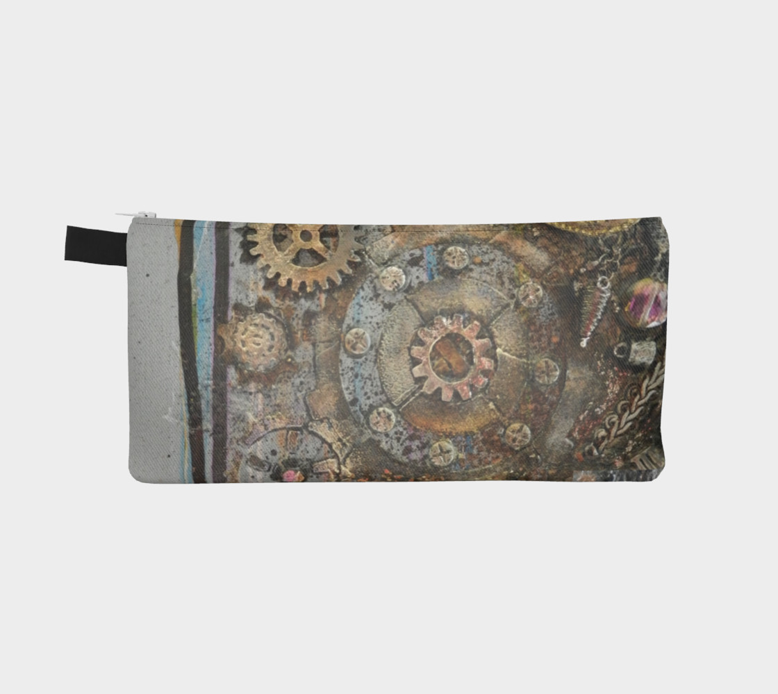Cogs inThe Machine Zippered Pouch thumbnail #3