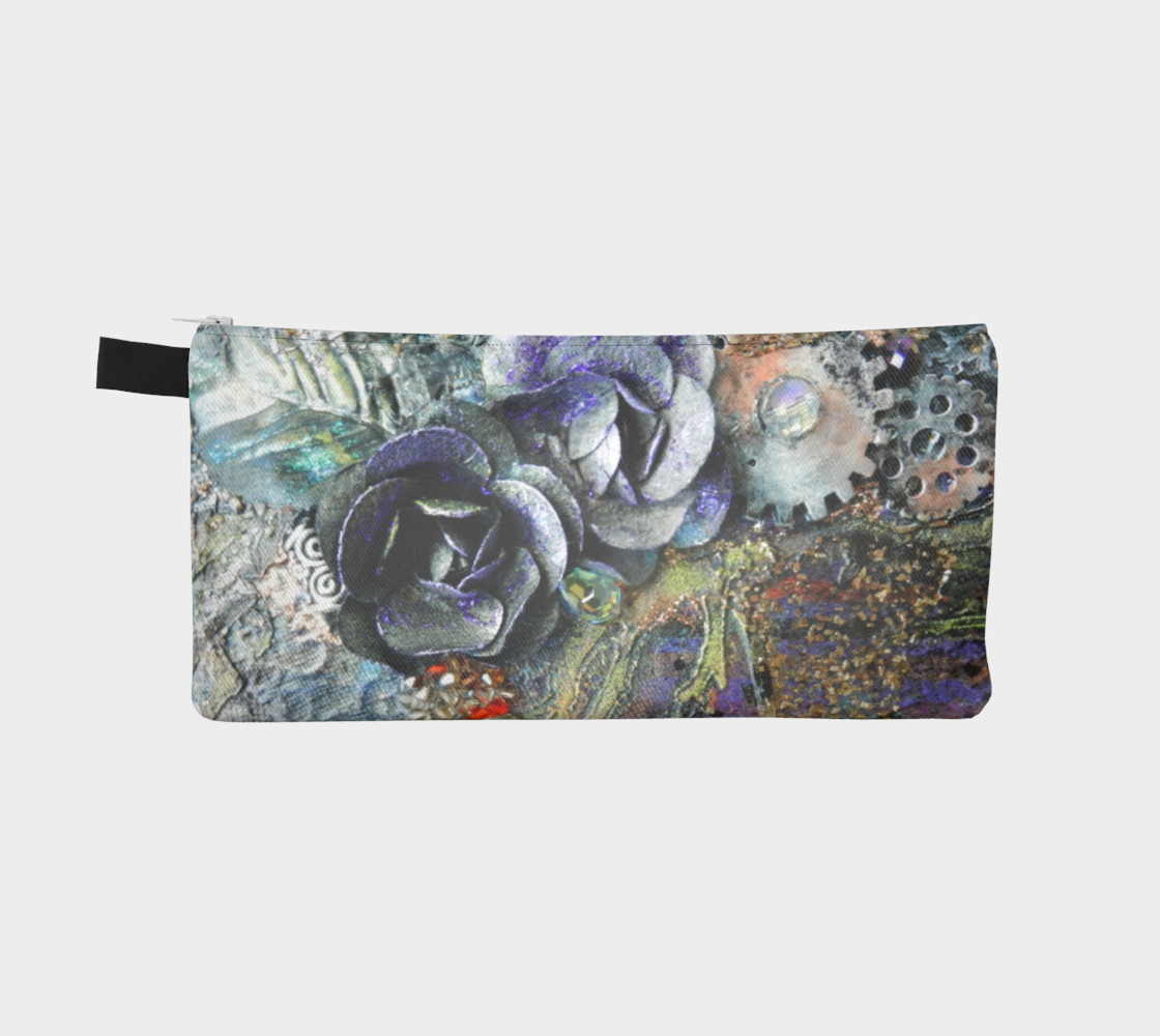 Gears and Roses Zippered Pouch preview #2