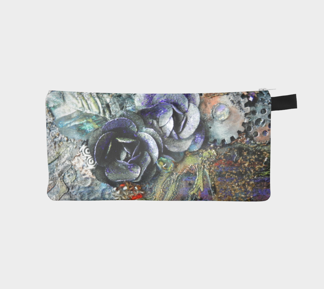 Gears and Roses Zippered Pouch preview #1