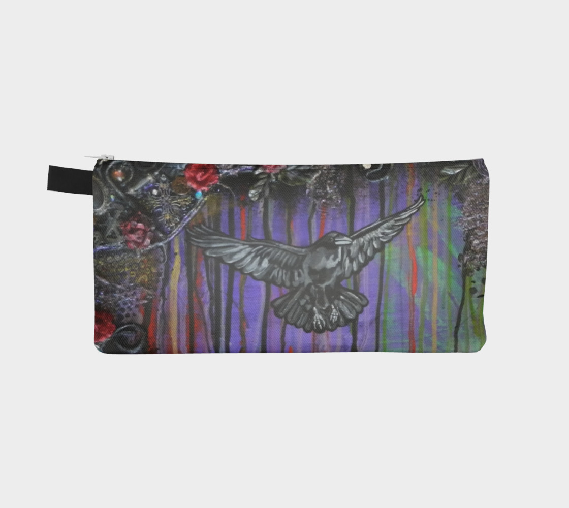 Crow Zippered Pouch preview #2