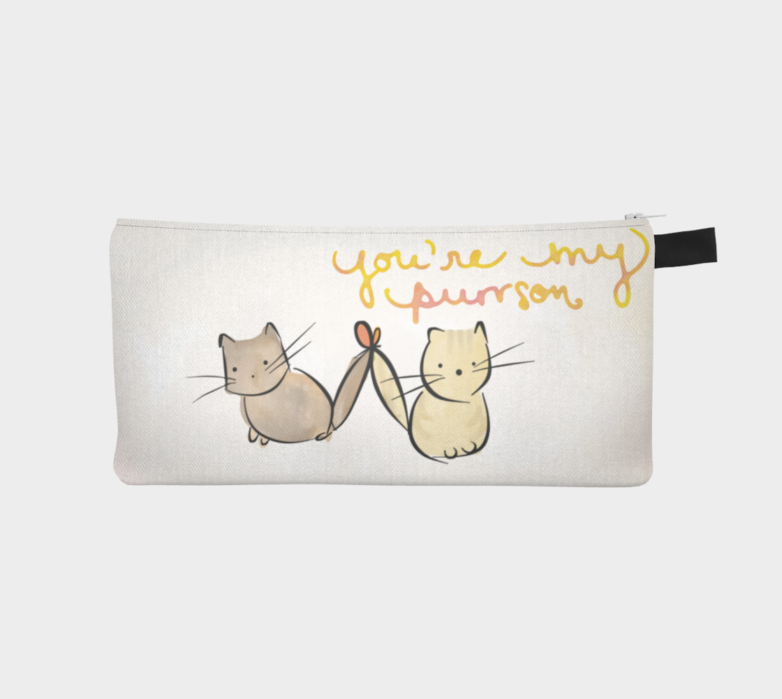 YOU'RE MY PURRSON - CAT PENCL CASE preview #1