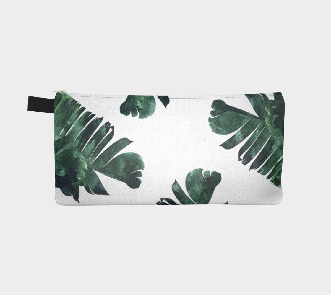 Banana Leaf Watercolor Pattern Pencil Case preview #2