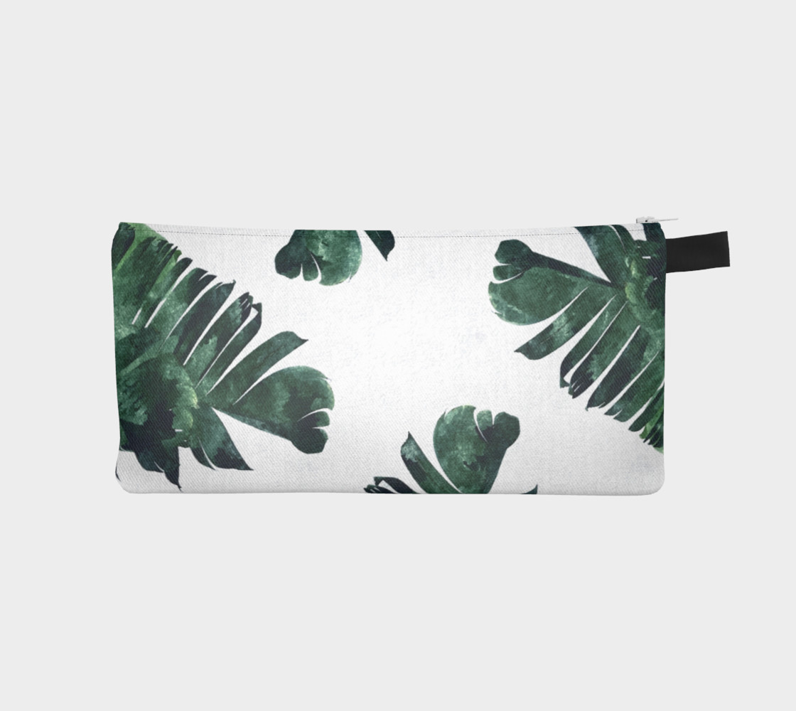 Banana Leaf Watercolor Pattern Pencil Case preview #1