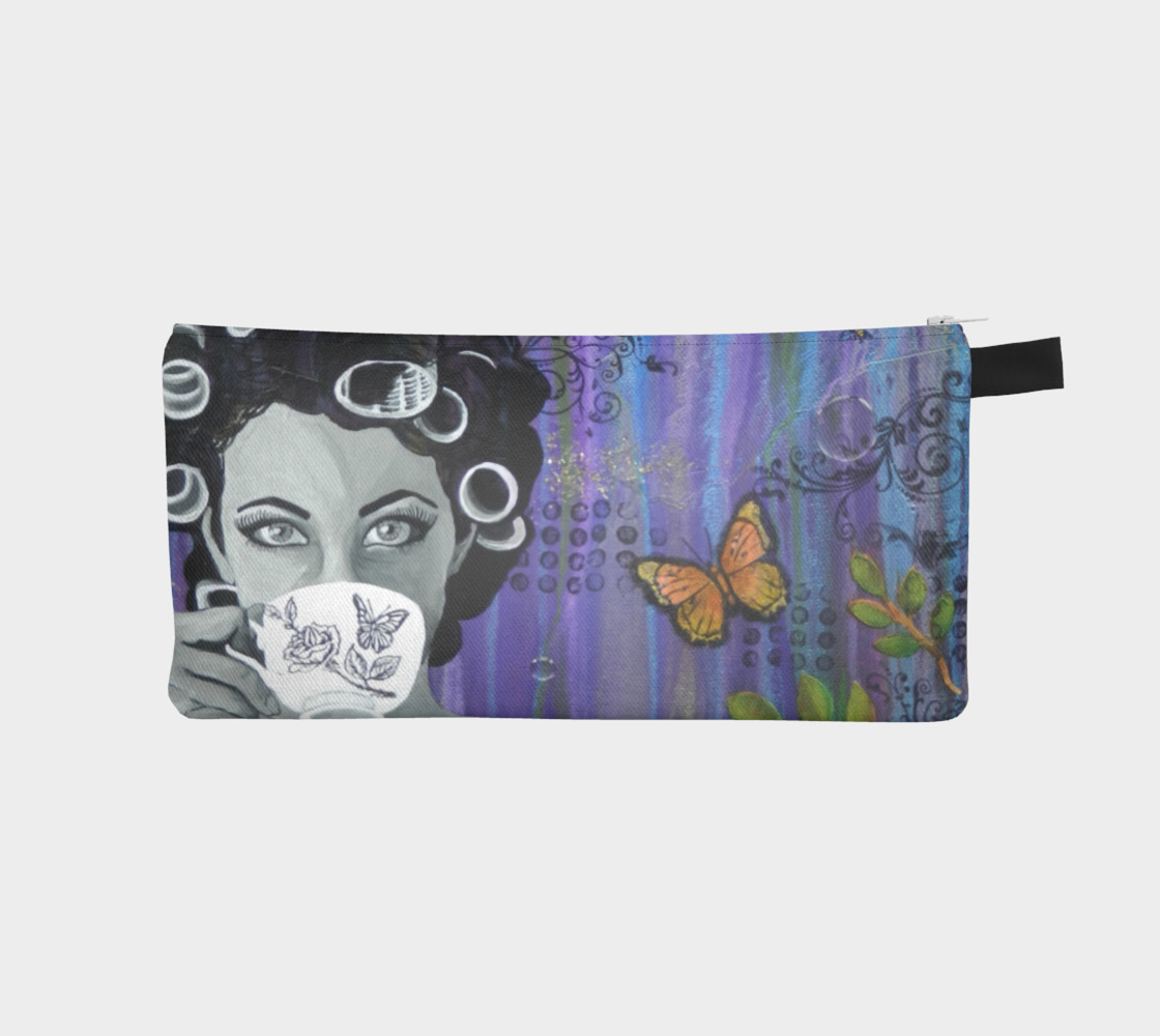 Hair Day Zippered Pouch preview #1